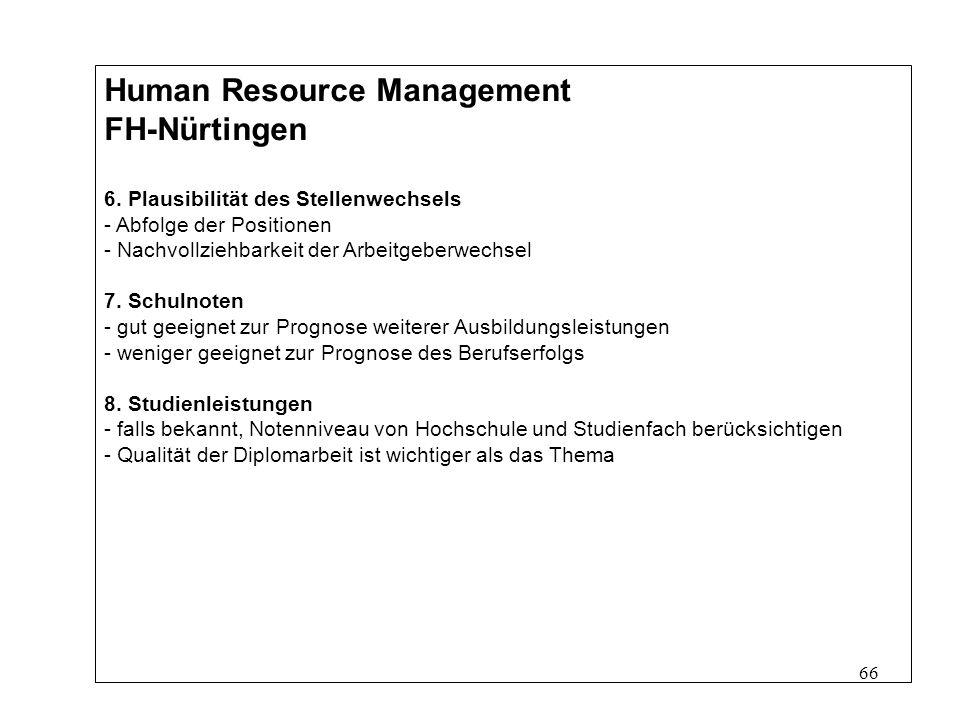 66 Human Resource Management FH-Nürtingen 6.