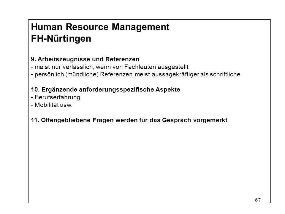 67 Human Resource Management FH-Nürtingen 9.