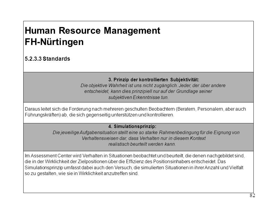 82 Human Resource Management FH-Nürtingen 5.2.3.3 Standards 3.