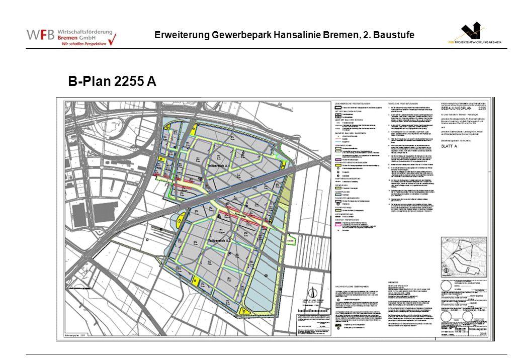 Erweiterung Gewerbepark Hansalinie Bremen, 2. Baustufe B-Plan 2255 A