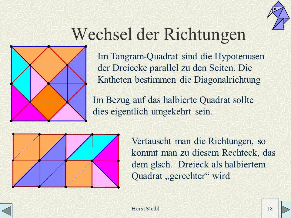 Horst Steibl 18 Wechsel der Richtungen Vertauscht man die Richtungen, so kommt man zu diesem Rechteck, das dem glsch.