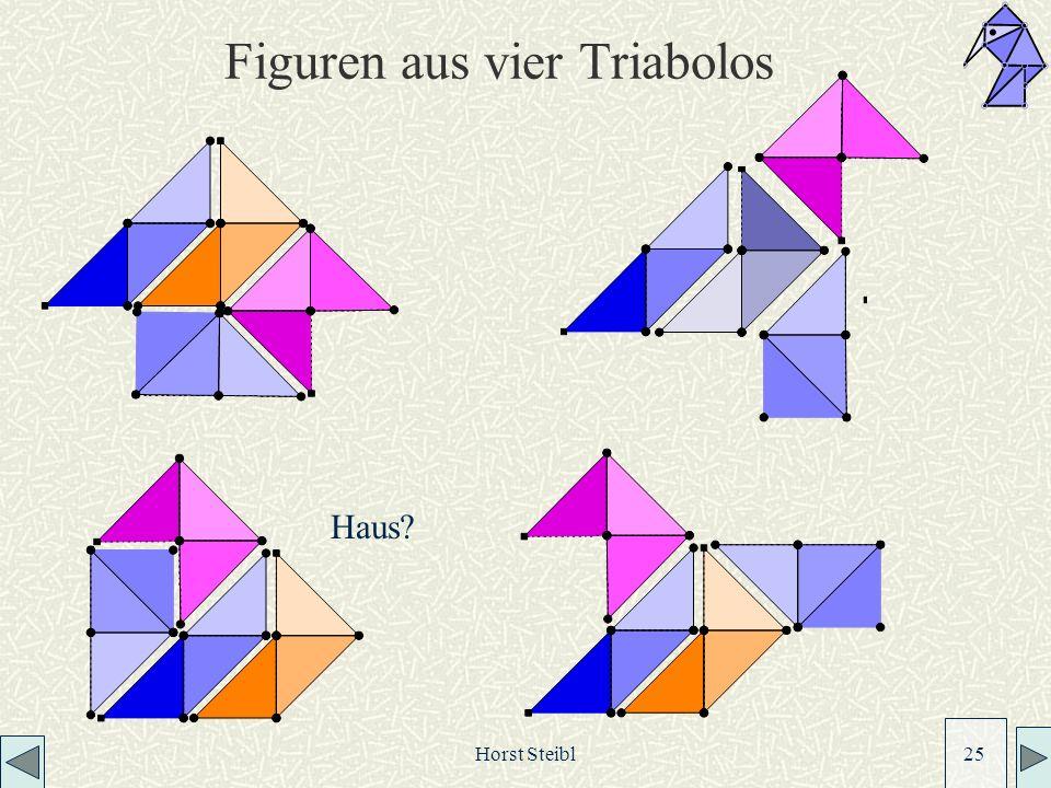Horst Steibl 25 Figuren aus vier Triabolos Haus?