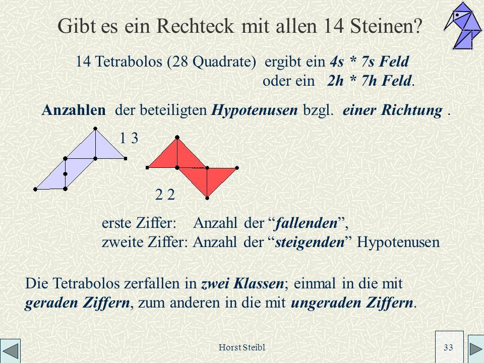 Horst Steibl 33 Gibt es ein Rechteck mit allen 14 Steinen.