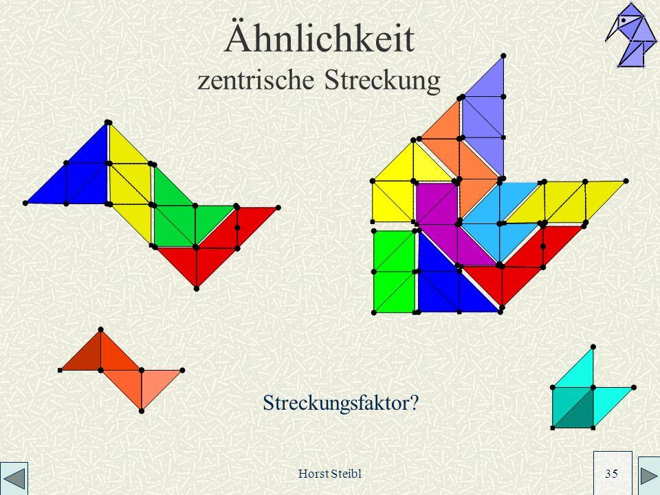 Horst Steibl 35 Ähnlichkeit zentrische Streckung Streckungsfaktor?