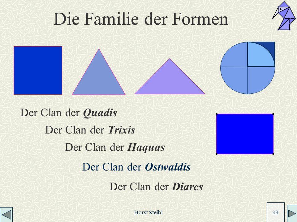 Horst Steibl 38 Die Familie der Formen Der Clan der Haquas Der Clan der Quadis Der Clan der Diarcs Der Clan der Trixis Der Clan der Ostwaldis