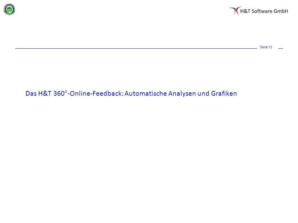 Seite 13 Das H&T 360°-Online-Feedback: Automatische Analysen und Grafiken