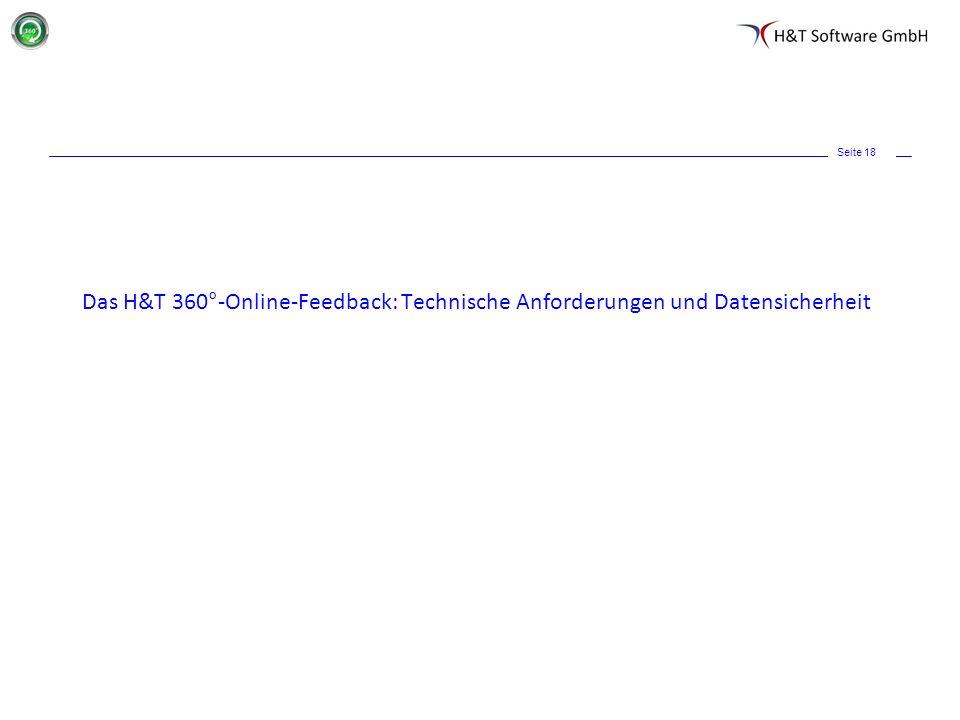 Seite 18 Das H&T 360°-Online-Feedback: Technische Anforderungen und Datensicherheit