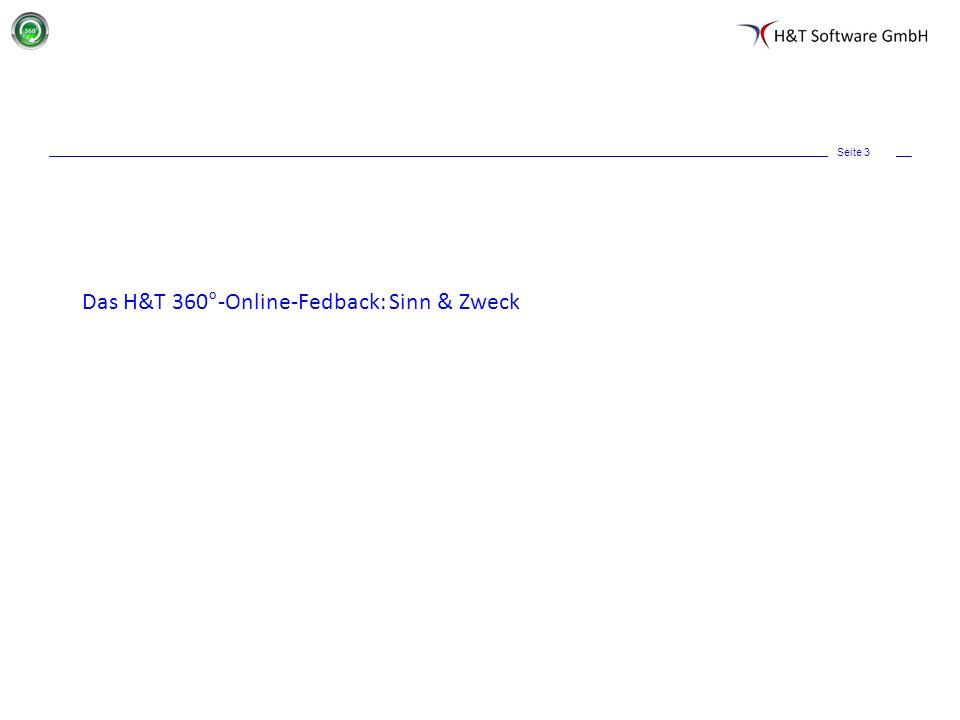 Seite 3 Das H&T 360°-Online-Fedback: Sinn & Zweck