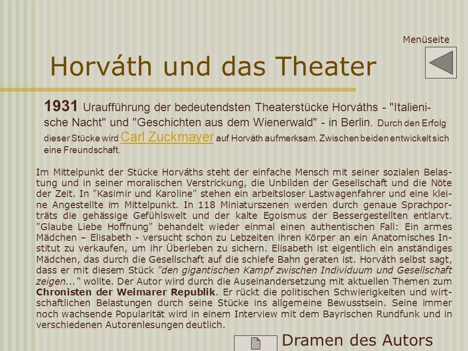 Horváth wird populär 1930 beendet Horváth den Roman
