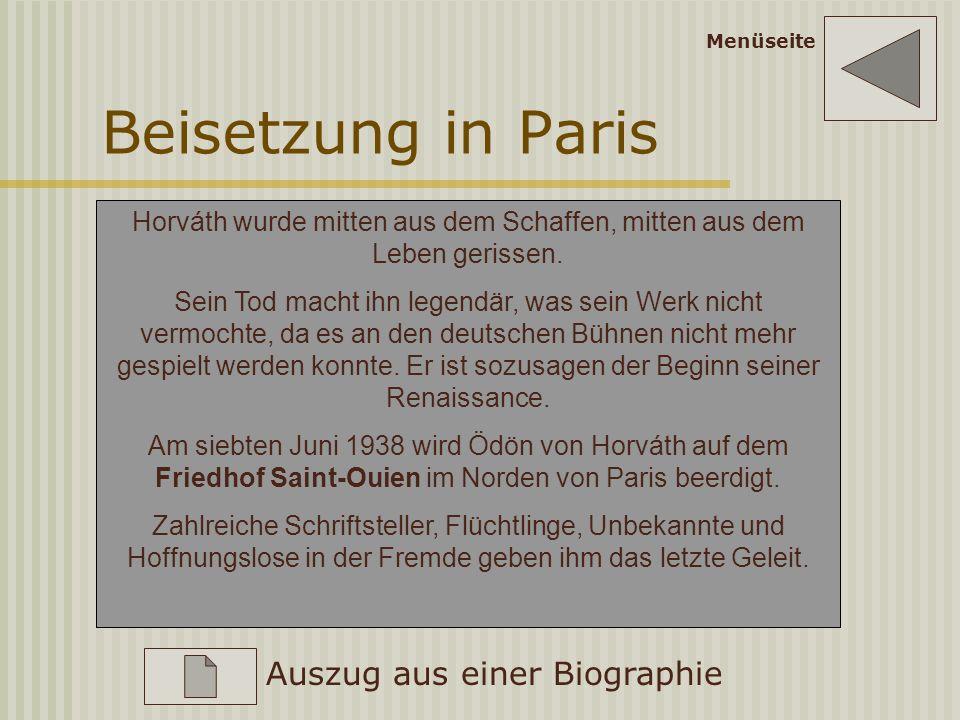 Ironie des Schicksals 1938 Im März marschieren die deutschen Truppen in Wien ein, Österreich wird an Deutschland angeschlossen. Horváth muss Österreic