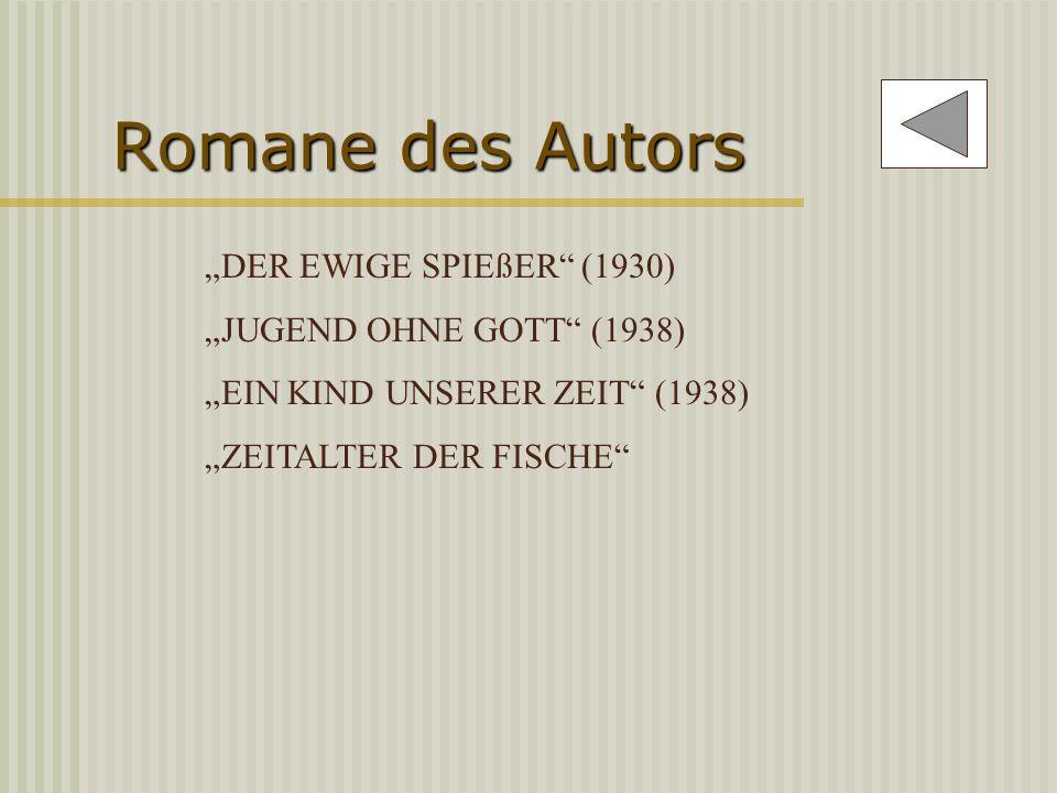 Dramen des Autors REVOLTE AUF COTE (1927) SLADEK, DER SCHWARZE REICHSWEHRMANN (1929) ITALIENISCHE NACHT (1931) KASIMIR UND KAROLINE (1932) HIN UND HER