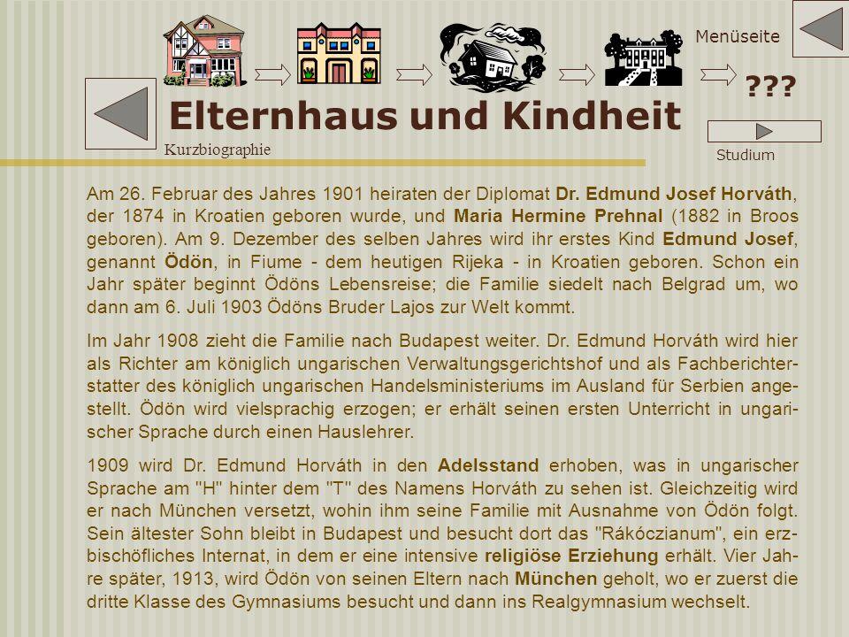 Die braune Gefahr I 1933-1938 Nach der Machtübernahme durch die National- sozialisten übersiedelt Horváth nach Wien.