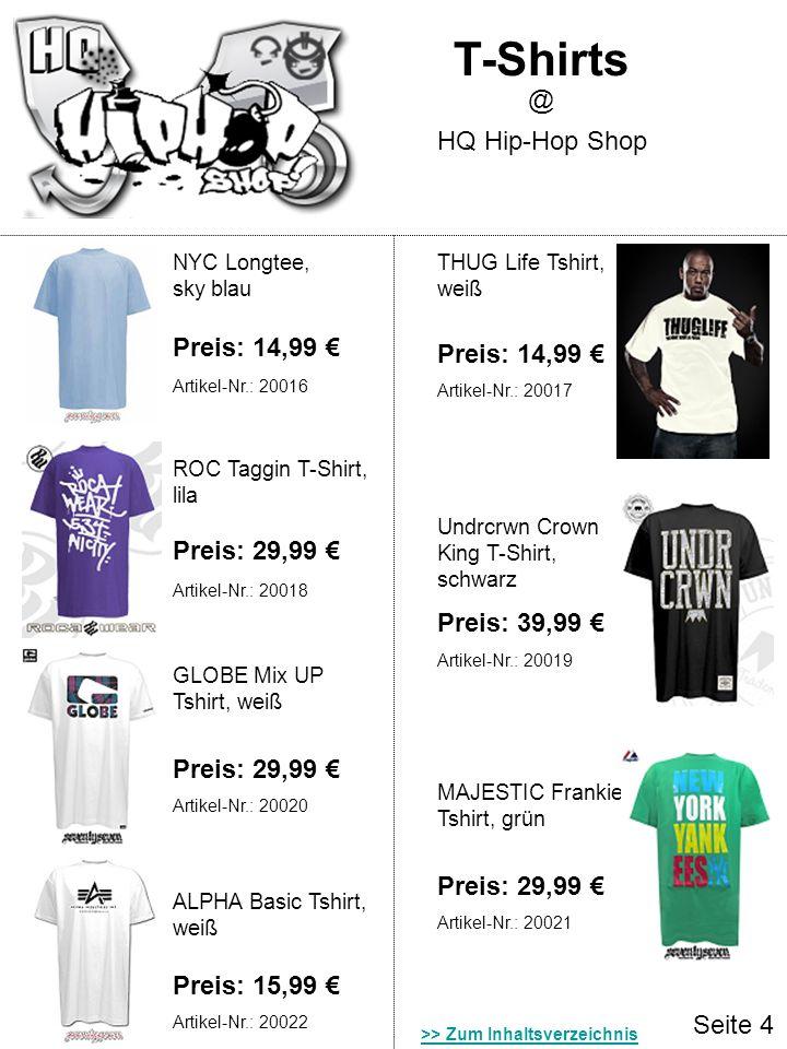 Seite 4 T-Shirts HQ Hip-Hop Shop @ NYC Longtee, sky blau THUG Life Tshirt, weiß Preis: 14,99 ROC Taggin T-Shirt, lila Preis: 29,99 Undrcrwn Crown King