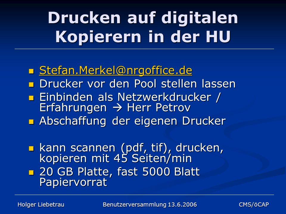 Drucken auf digitalen Kopierern in der HU Stefan.Merkel@nrgoffice.de Stefan.Merkel@nrgoffice.de Stefan.Merkel@nrgoffice.de Drucker vor den Pool stelle