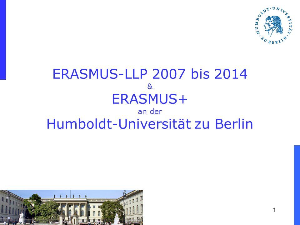 1 ERASMUS-LLP 2007 bis 2014 & ERASMUS+ an der Humboldt-Universität zu Berlin