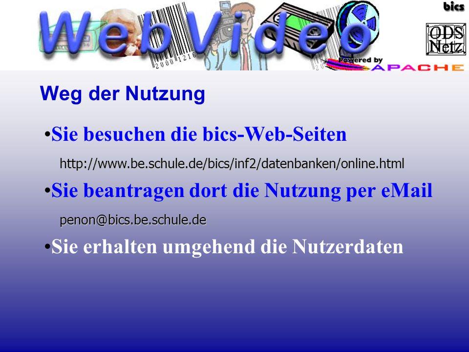 http://www.be.schule.de/bics/inf2/datenbanken/online.htmlSie besuchen die bics-Web-Seiten http://www.be.schule.de/bics/inf2/datenbanken/online.html pe