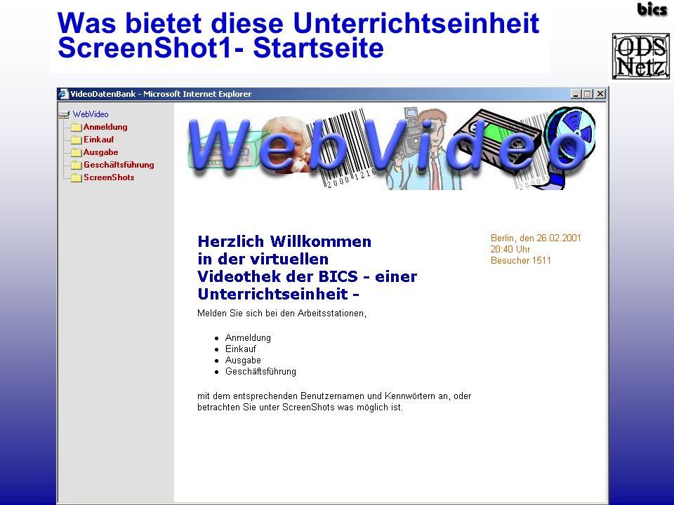 ScreenShot3- Materialien (Arbeitsbogen)