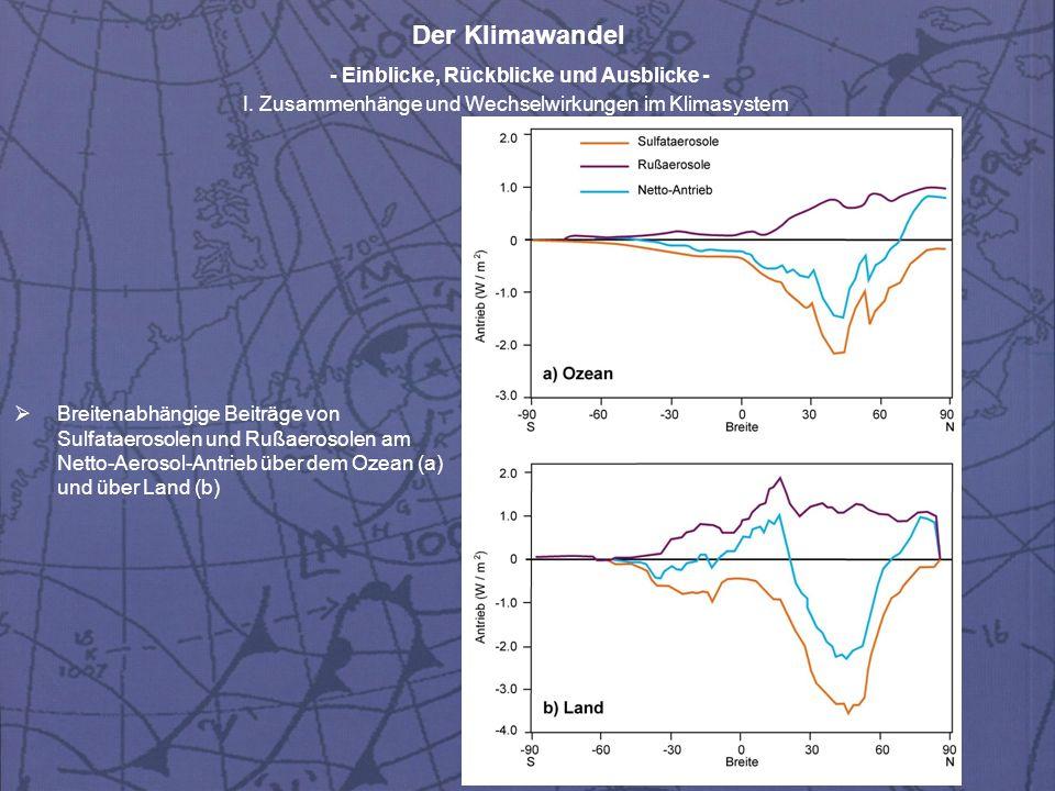 Der Klimawandel - Einblicke, Rückblicke und Ausblicke - I.