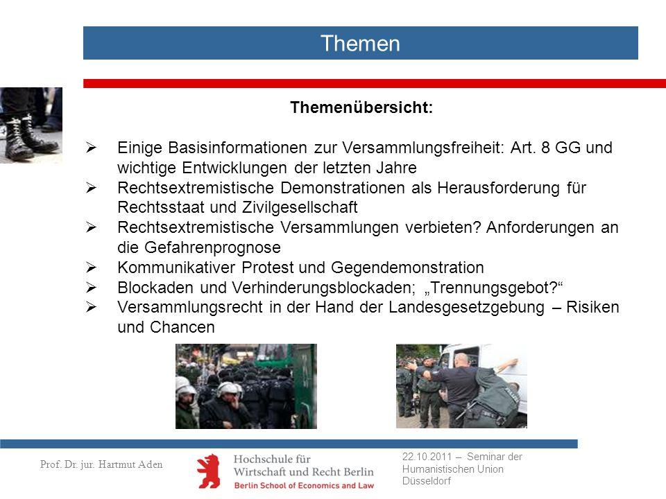Prof.Dr. Hartmut Aden BVerfG-Beschluss vom 12.5.2010 zu Vorkontrollen (Az.