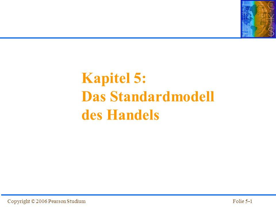 Copyright © 2006 Pearson StudiumFolie 5-1 Kapitel 1 Einführung Kapitel 5: Das Standardmodell des Handels