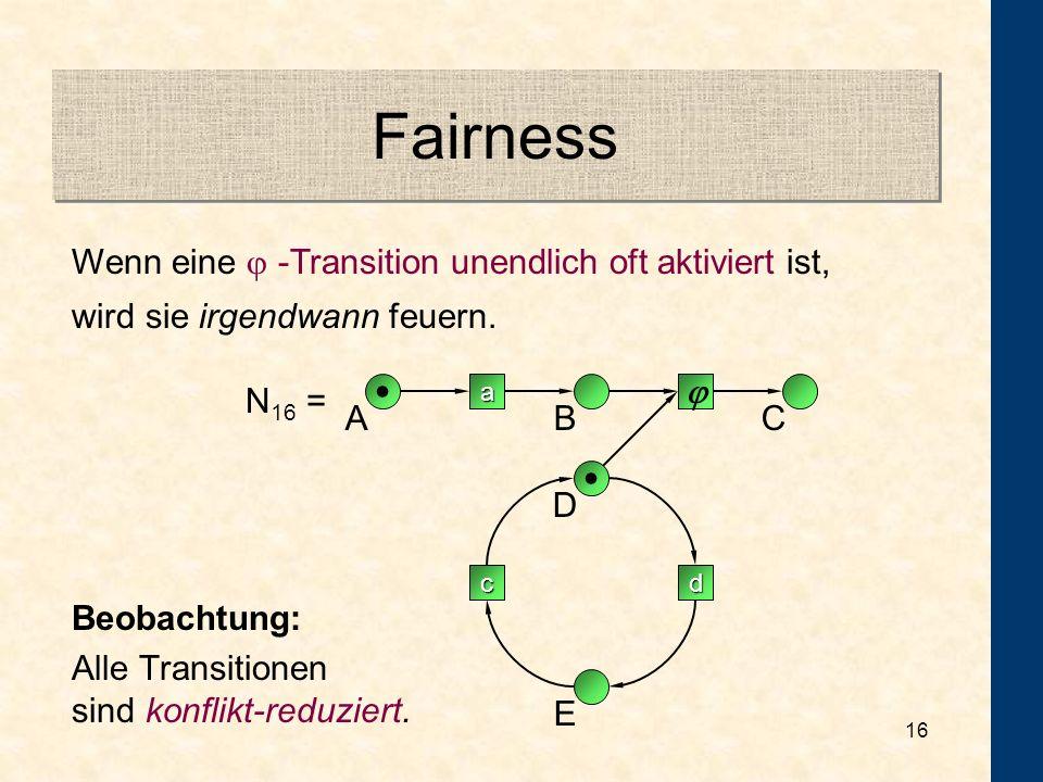 15 Cache Refreshing Beweisgraphen: kreisfreie, gerichtete Graphen mit ausgezeichneter Quelle und Senke Leads-to Formeln: N p q Effekt einer Transition