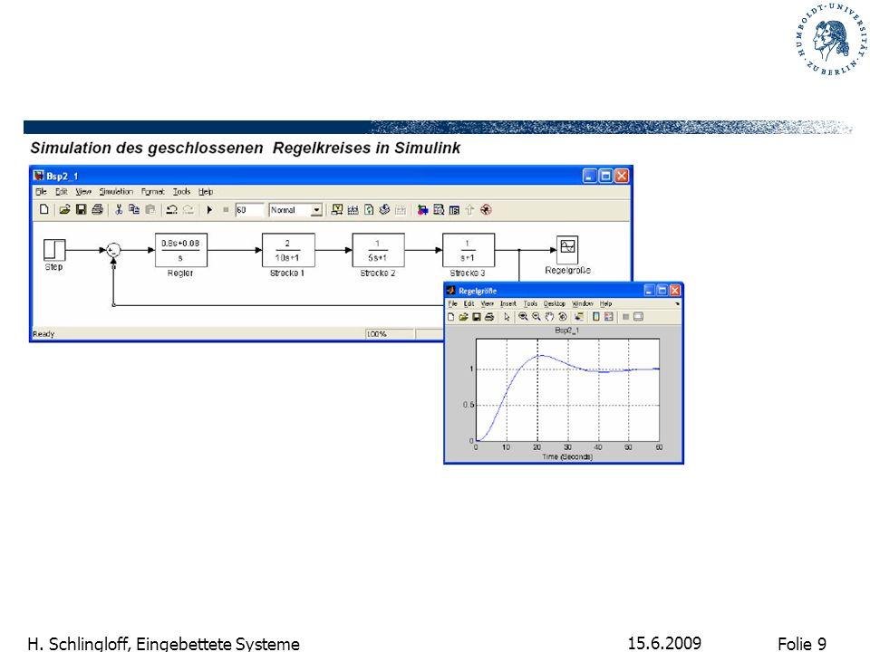 Folie 9 H. Schlingloff, Eingebettete Systeme 15.6.2009