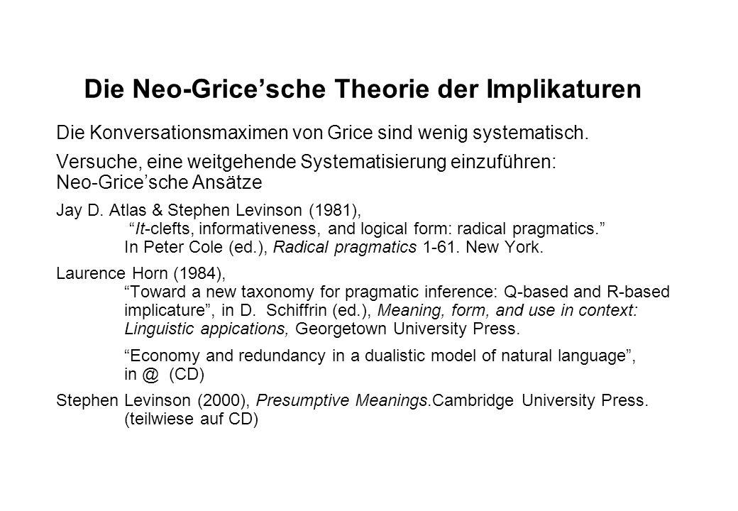 Literatur auf CD Horn 1998 (Economy) Levinson 2000 (Kap. 2)