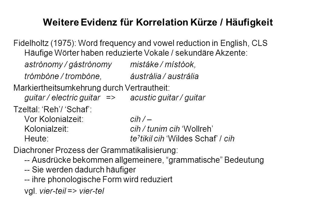 Beispiel: Absoluter Komparativgebrauch (1) Hans ist ein alter Mann.