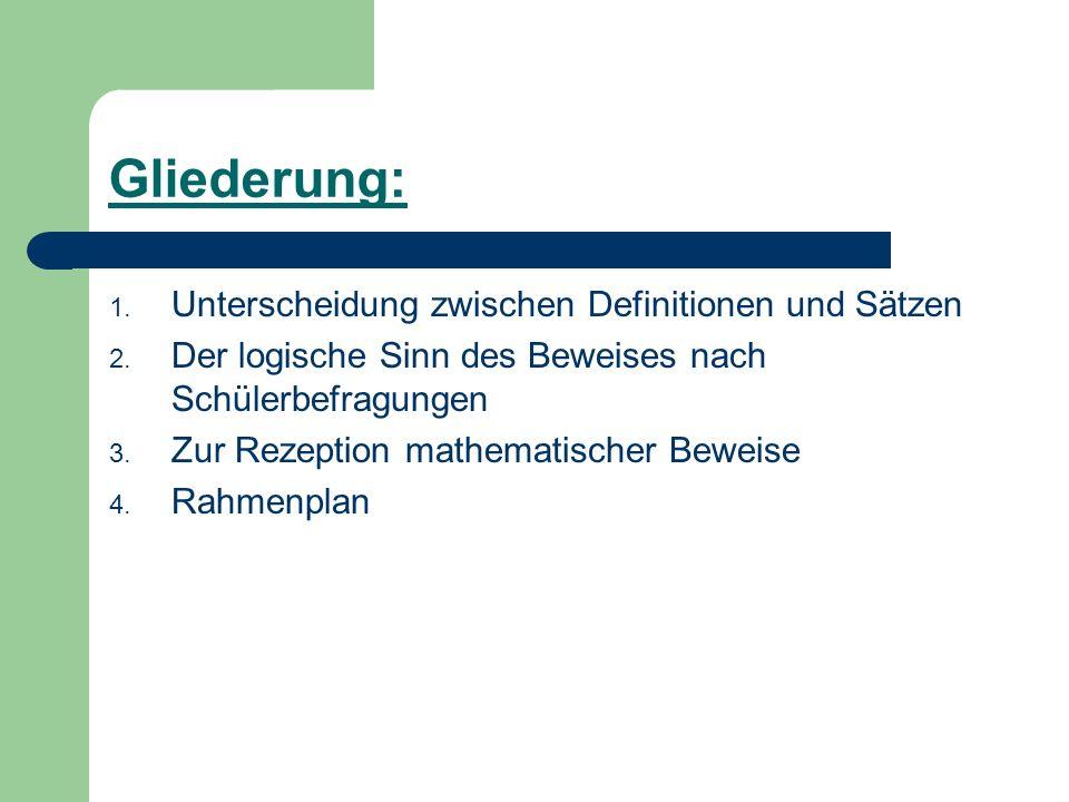 Literatur: Dörfler, W.; Fischer, R.