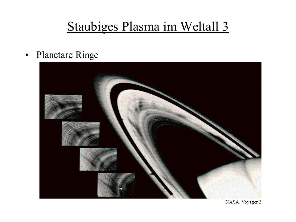 Staubiges Plasma im Labor Problem bei Fusionsexperimenten Staubkristalle als Modellsystem für Phasenübergänge Prof.