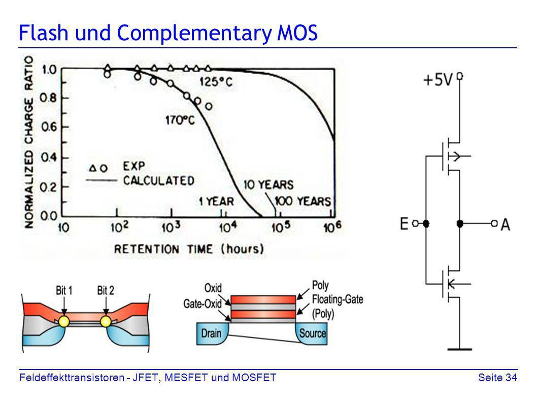 Feldeffekttransistoren – JFET, MESFET und MOSFETSeite 34 Flash und Complementary MOS