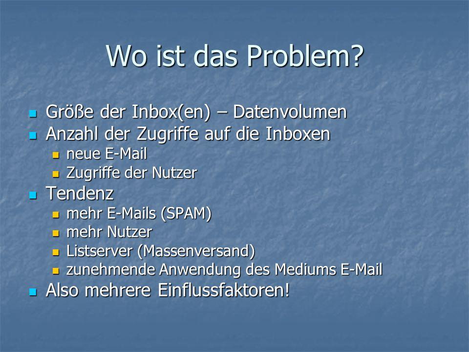 Wo ist das Problem.