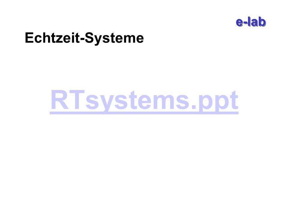 e-lab Echtzeit-Systeme RTsystems.ppt