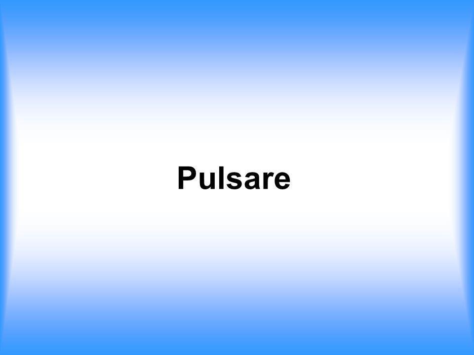 scharfe, regelmäßige Radiopulse 1967 zufällig entdeckt von Jocelyn Bell und Antony Hewish (PSR 1919+21 T = 1.33 s) Periodendauern: einige ms bis einige s Pulsbreiten < 1ms erste Annahme: Radiosignale von intelligenten Wesen Pulsar\Sound PSR B0329+54.au Zur Entdeckung