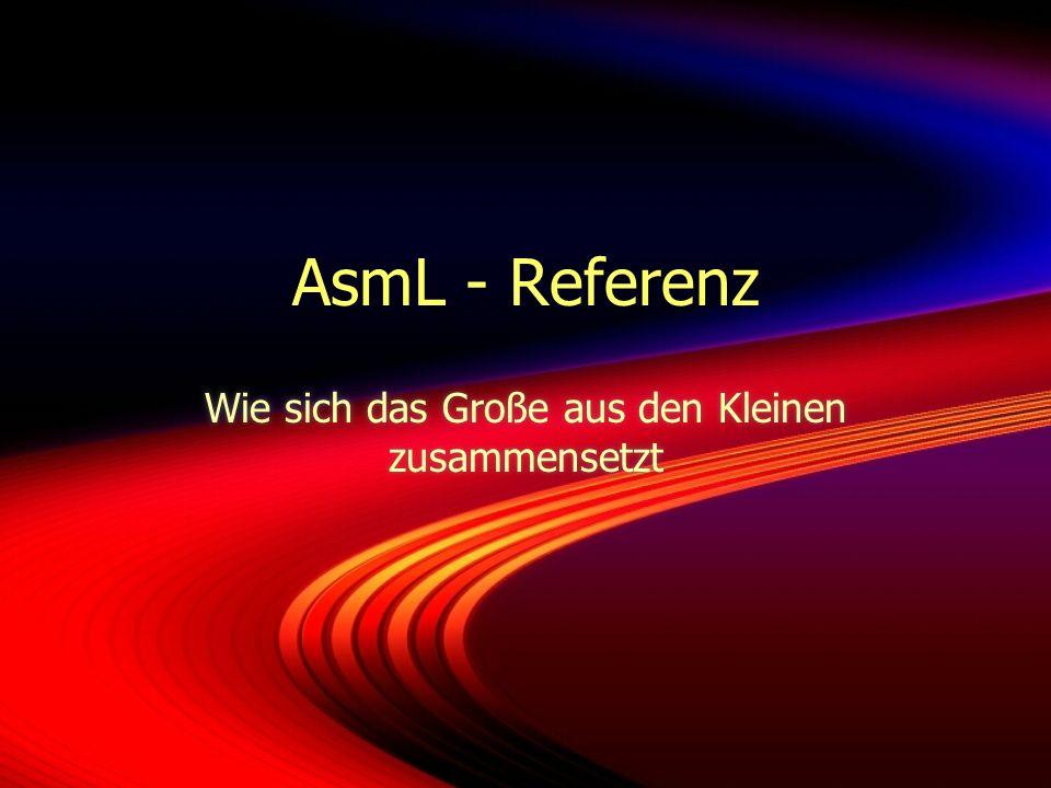 AsmL - Referenz Wie sich das Große aus den Kleinen zusammensetzt