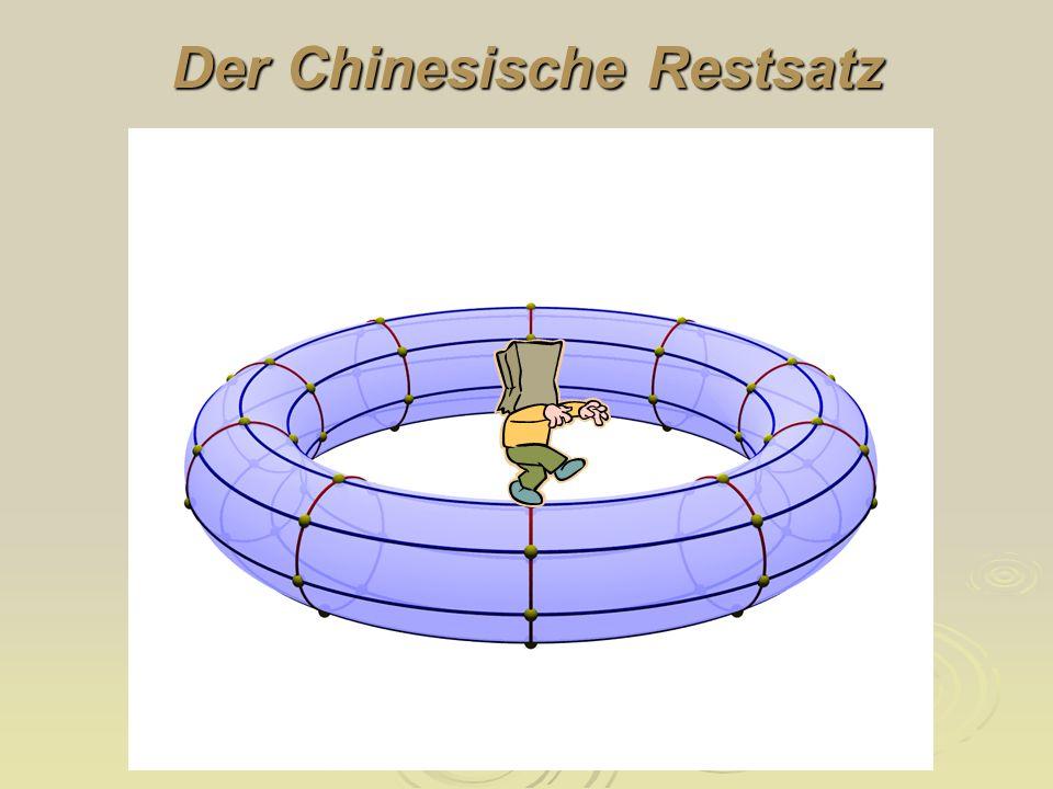 Der Chinesische Restsatz heißt (lineares oder auch simultanes) Kongruenzsystem, wobei m und n natürliche Zahlen und a und b ganze Zahlen sind. Chinesi