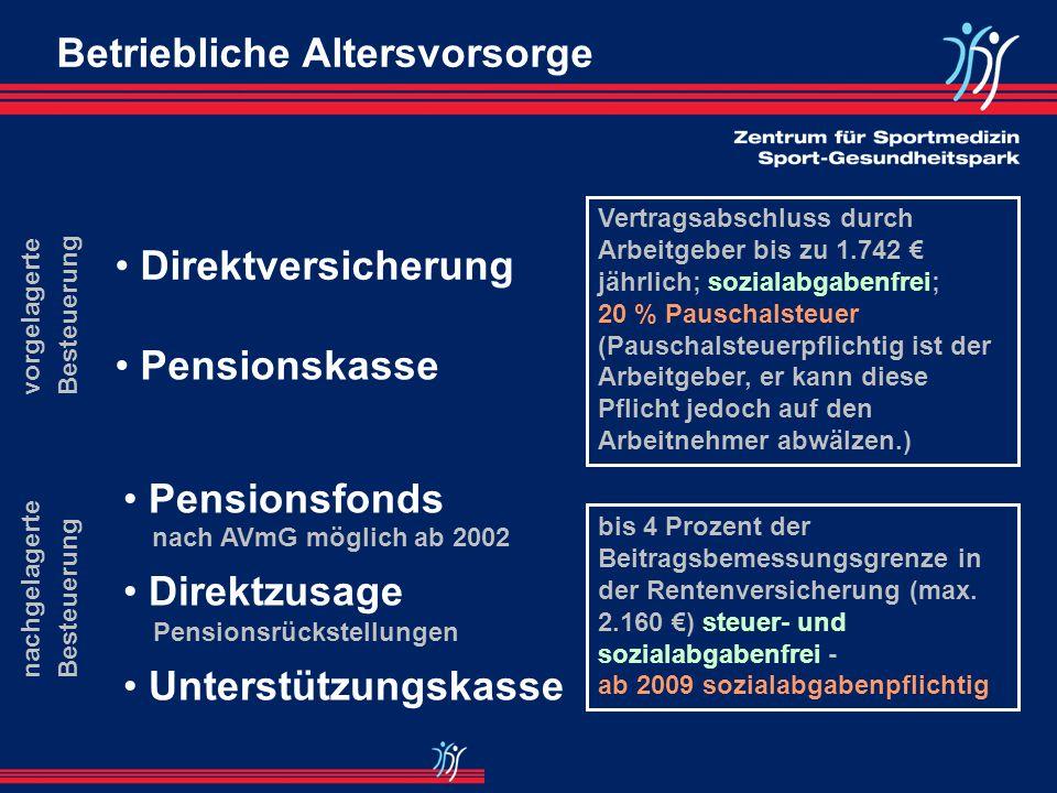 Riester-Rente: Förderleistungen im Überblick 2002 / 2003 Mind.eigenbeitrag 1% der im Vorjahr erziel- ten RV-beitragspflich- tigen Einnahmen : max. 525