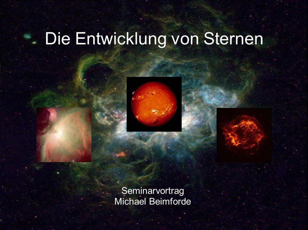 Die Hauptreihe: 0.08M O <M<0.25M O Seite 12 Nur ein kleines Kerngebiet besitzt nötige Temperatur für das H-Brennen.