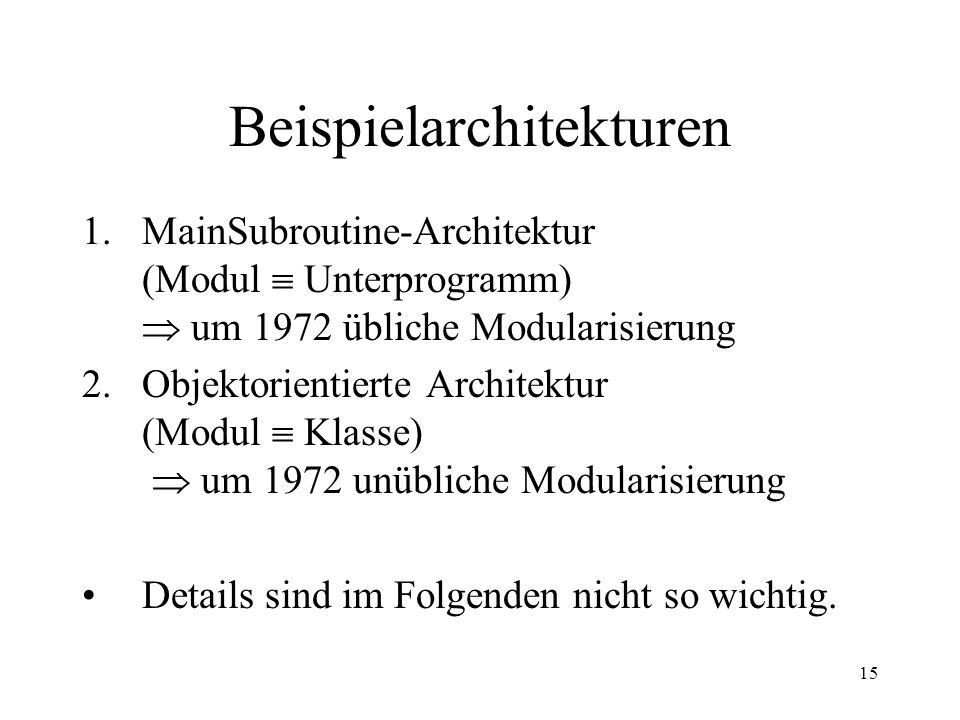 16 1. MainSubroutine-Architektur Abb.: TU Graz (siehe Literatur/ Links auf Folie 30)