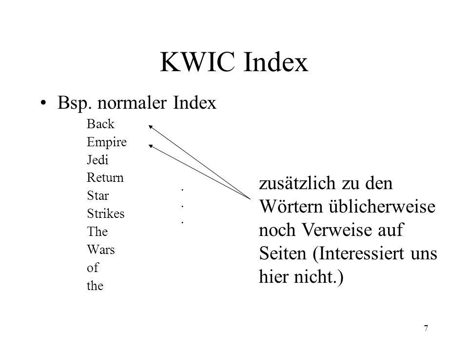 8 KWIC Index Bsp.