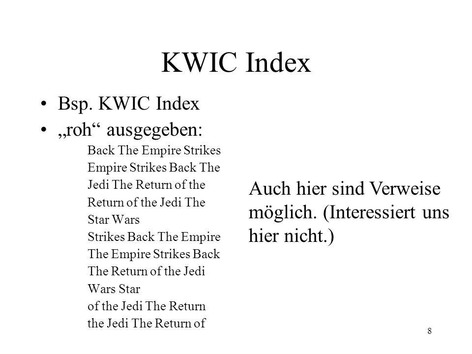 9 KWIC Index Bsp.