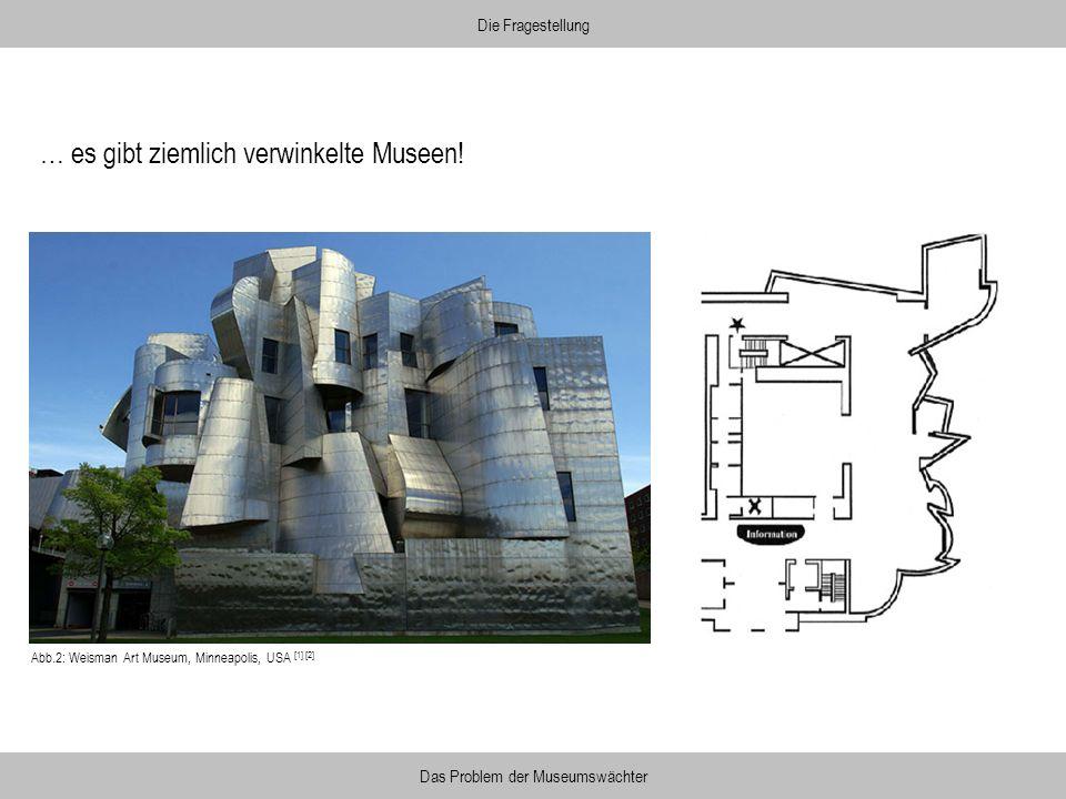 Abb.2: Weisman Art Museum, Minneapolis, USA [1] [2] … es gibt ziemlich verwinkelte Museen! Die Fragestellung Das Problem der Museumswächter