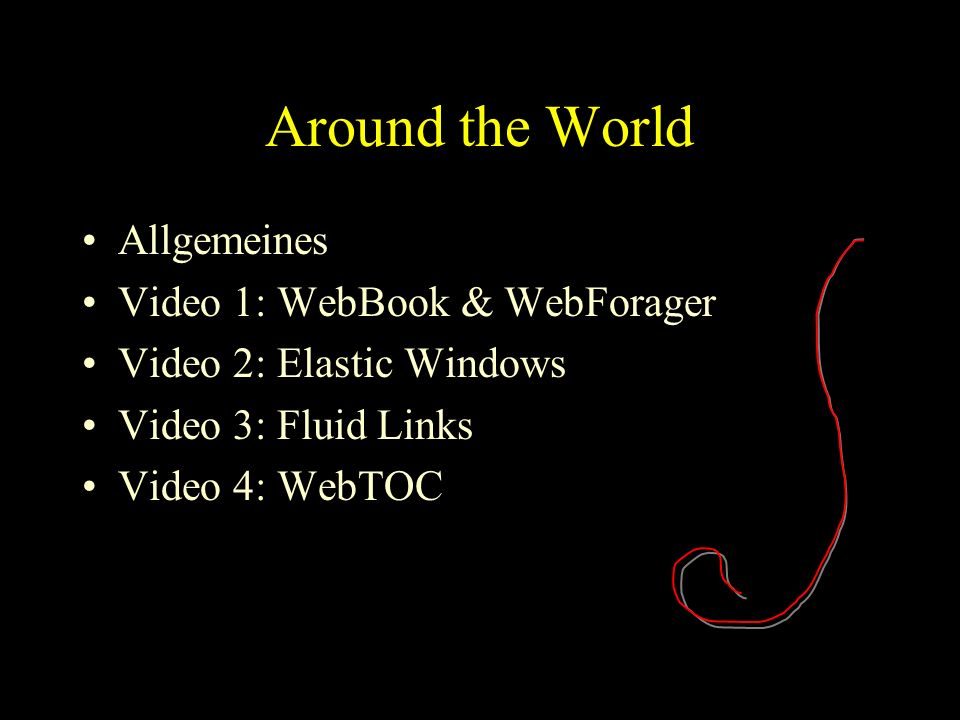 Allgemeines Informationen im WWW finden Navigation erleichtern –Zwischen Dokumenten –Innerhalb der Dokumente Wiederfinden erleichtern –Dokumente kategorisieren –Dokumente ablegen