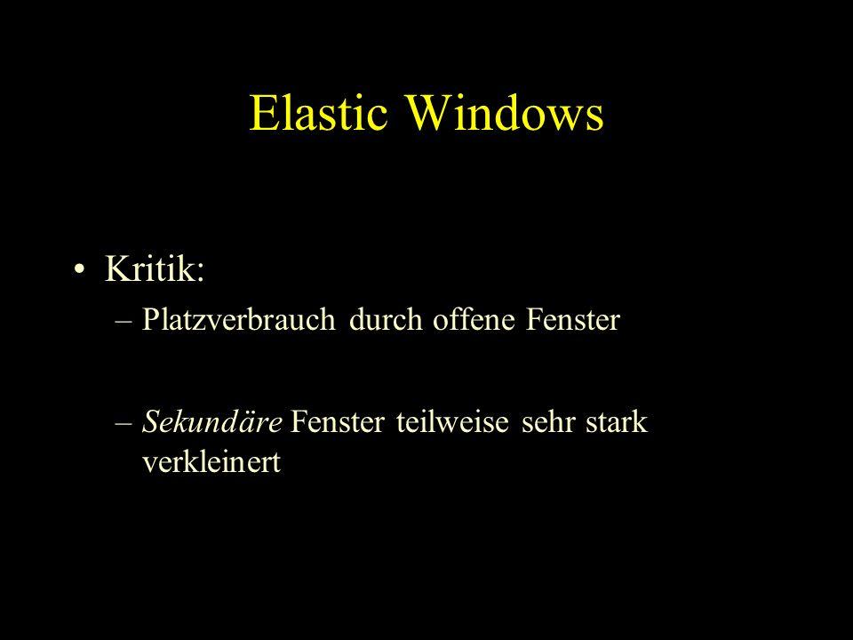 Around the World Allgemeines Video 1: WebBook & WebForager Video 2: Elastic Windows Video 3: Fluid Links Video 4: WebTOC