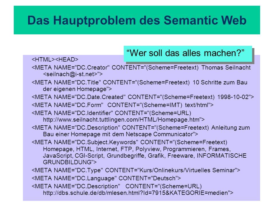 Das Hauptproblem des Semantic Web