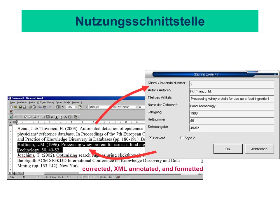 Nutzungsschnittstelle corrected, XML annotated, and formatted