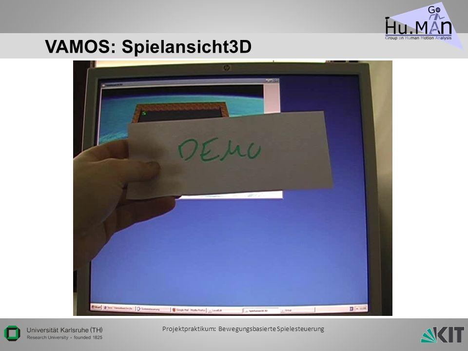 VAMOS: Spielansicht3D Projektpraktikum: Bewegungsbasierte Spielesteuerung