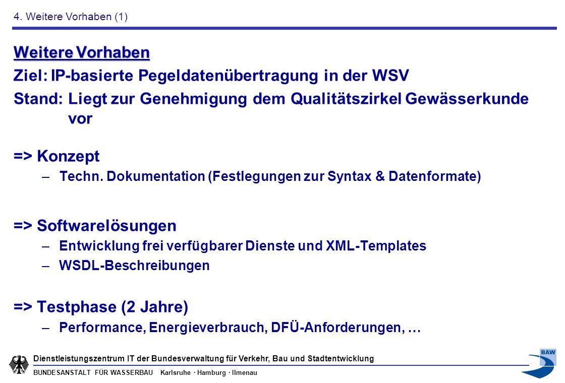 BUNDESANSTALT FÜR WASSERBAU Karlsruhe · Hamburg · Ilmenau Dienstleistungszentrum IT der Bundesverwaltung für Verkehr, Bau und Stadtentwicklung Weitere
