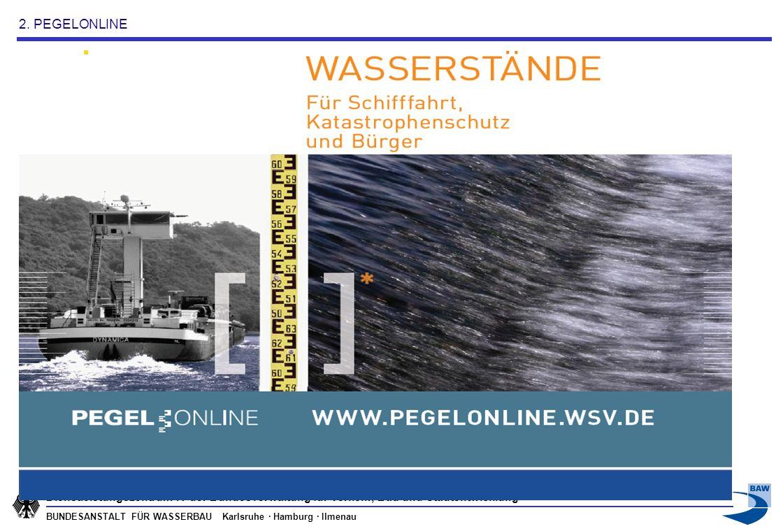 BUNDESANSTALT FÜR WASSERBAU Karlsruhe · Hamburg · Ilmenau Dienstleistungszentrum IT der Bundesverwaltung für Verkehr, Bau und Stadtentwicklung HTTP Request / Response Handler SOAP WS-Client Kooperationspartner Offene Standards für Kommunikation und Datentransfer Java / XML Open Source Software OGC Sensor Observation Service 1.0 Nutzer/Anwender/Bürger Messnetze ftp (intern)/ sftp (extern) OGC-konforme Kommunikation ( SensorML, O&M, GML, SWECommon, u.a.