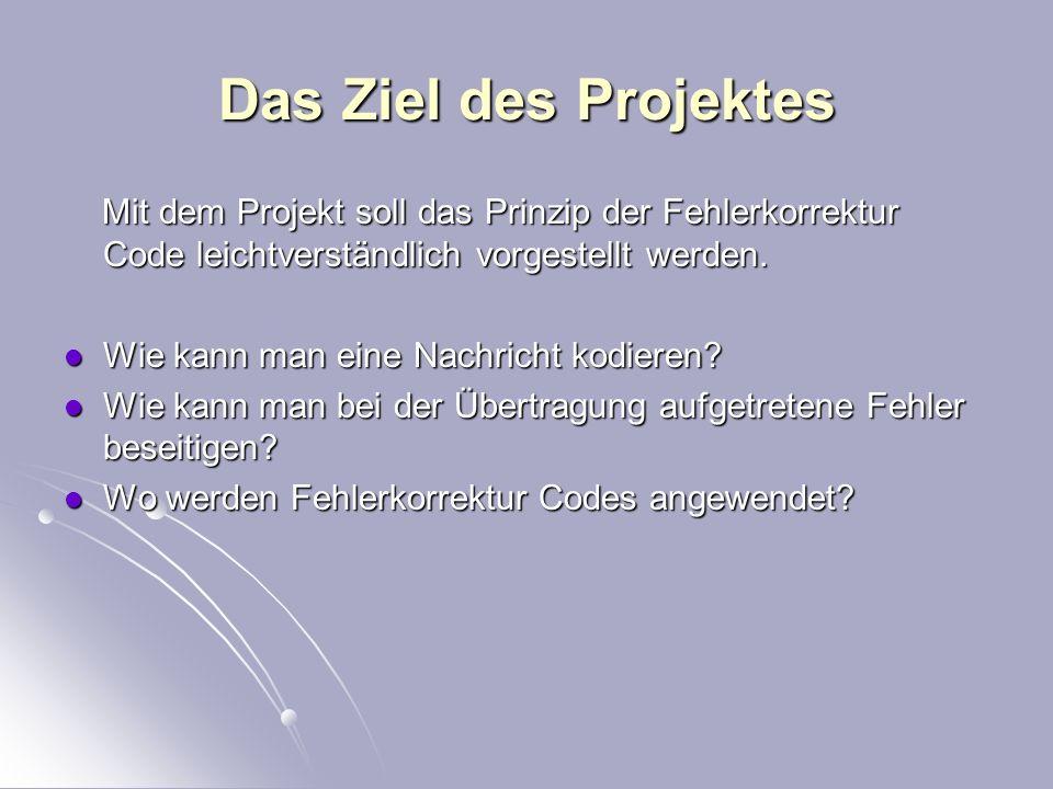 Fehlerkorrektur-Codes Lange Nacht der Wissenschaften 14.